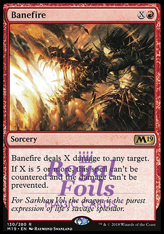 **1x FOIL Banefire** M19 MTG Core Set 2019 Rare MINT red