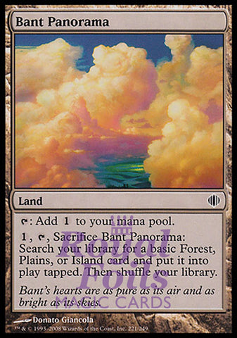 **1x FOIL Bant Panorama** ALA MTG Shards of Alara Common MINT green white blue land