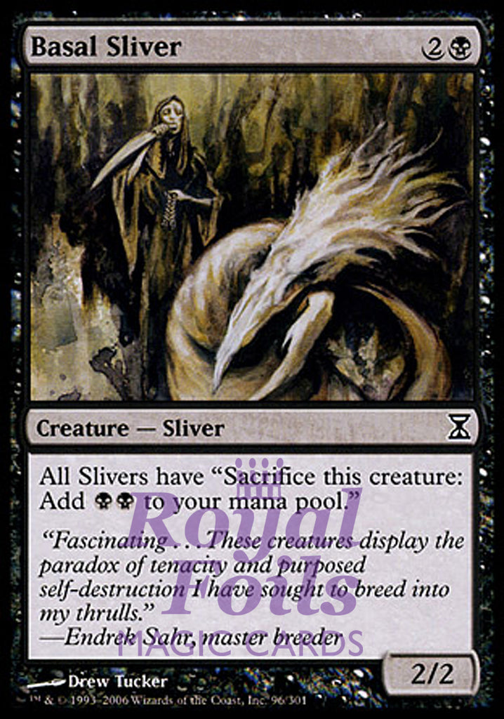 **1x FOIL Basal Sliver** TSP MTG Time Spiral Common MINT black