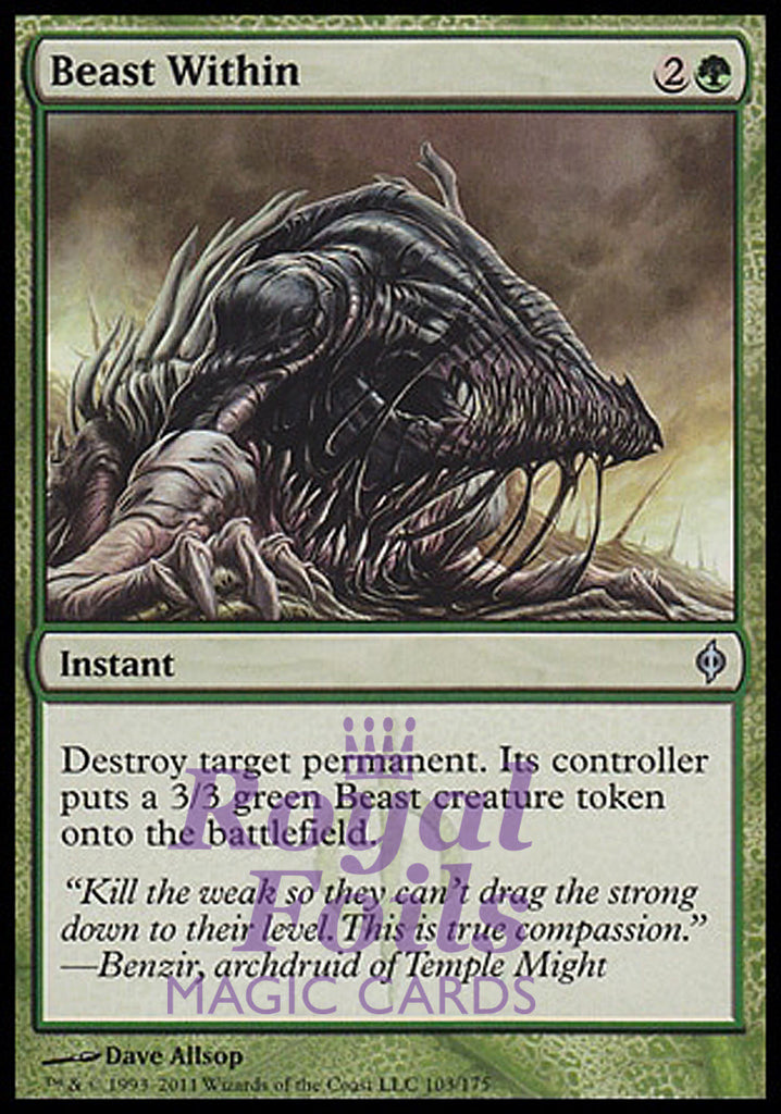 **1x FOIL Beast Within** NPH MTG New Phyrexia Uncommon MINT green