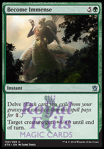 **1x FOIL Become Immense** MTG KTK Khans of Tarkir Uncommon MINT green