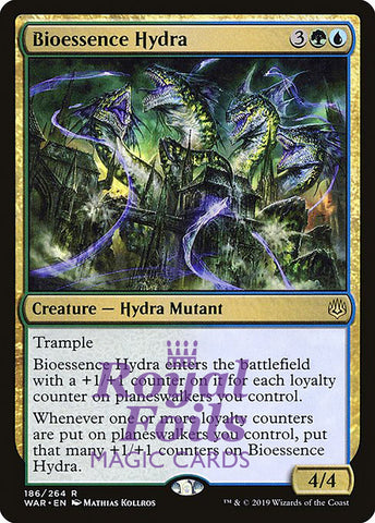 **1x FOIL Bioessence Hydra** WAR MTG War of the Spark Rare MINT blue green