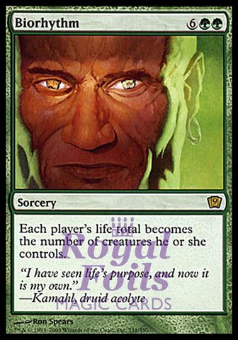 **1x FOIL Biorhythm** MTG 9th Ninth Edition Rare MINT green