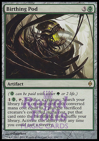 **1x FOIL Birthing Pod** NPH MTG New Phyrexia Rare NM- green artifact