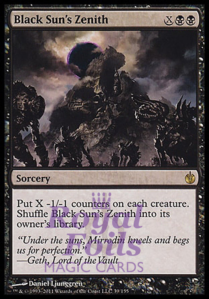 **1x FOIL Black Sun's Zenith** MBS MTG Mirrodin Besieged Rare MINT black