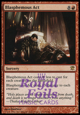 **1x FOIL Blasphemous Act** ISD MTG Innistrad Rare MINT red