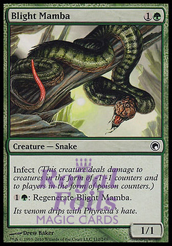 **1x FOIL Blight Mamba** SOM MTG Scars of Mirrodin Common MINT green