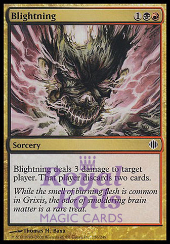 **1x FOIL Blightning** ALA MTG Shards of Alara Common MINT red black sorcery