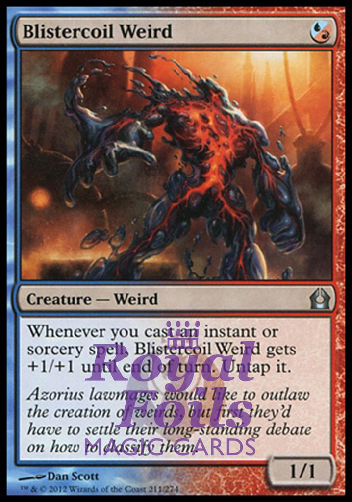 **1x FOIL Blistercoil Weird** RTR MTG Return to Ravnica Uncommon MINT blue red