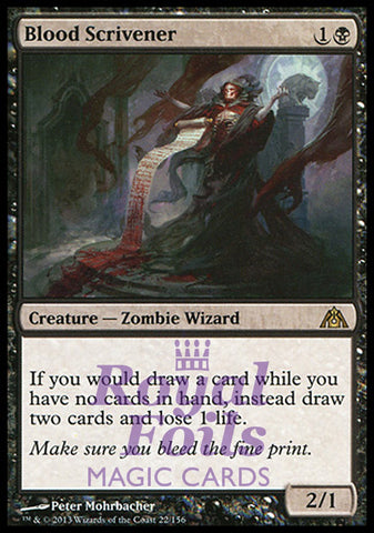 **1x FOIL Blood Scrivener** DGM MTG Dragon's Maze Rare MINT black