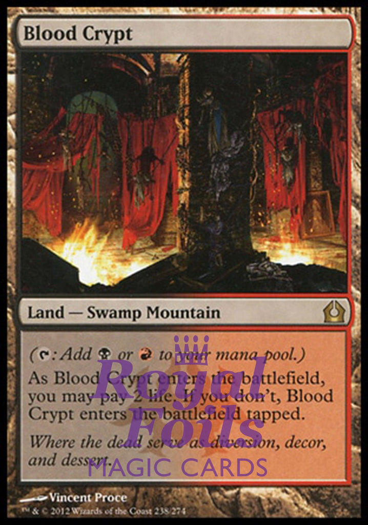 **1x FOIL Blood Crypt** RTR MTG Return to Ravnica Rare MINT black red land