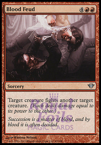 **5x FOIL Blood Feud** DKA MTG Dark Ascension Uncommon NM red