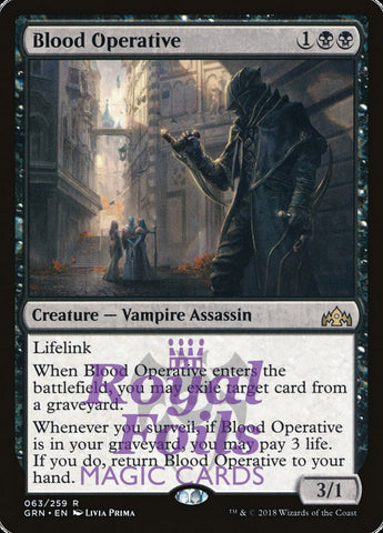 **2x FOIL Blood Operative** GRN MTG Guilds of Ravnica Rare MINT black