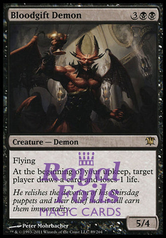 **1x FOIL Bloodgift Demon** ISD MTG Innistrad Rare NM black