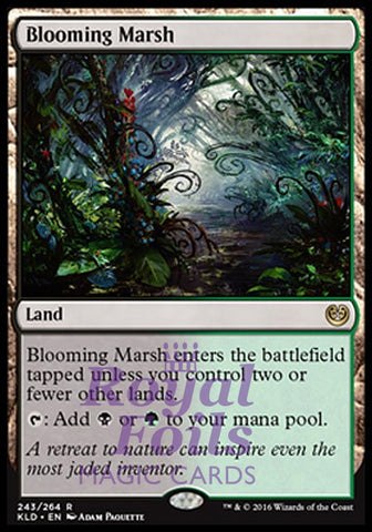 **1x FOIL Blooming Marsh** KLD MTG Kaladesh Rare MINT black green land