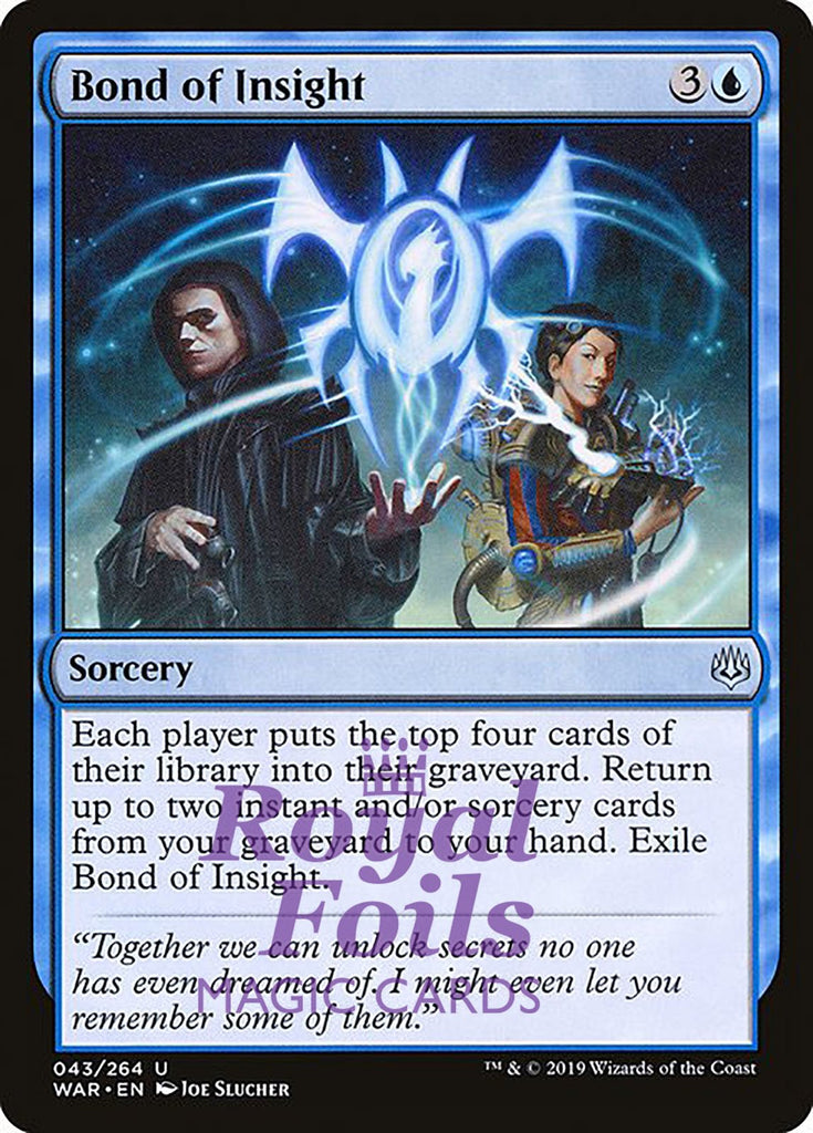 **1x FOIL Bond of Insight** WAR MTG War of the Spark Uncommon MINT blue