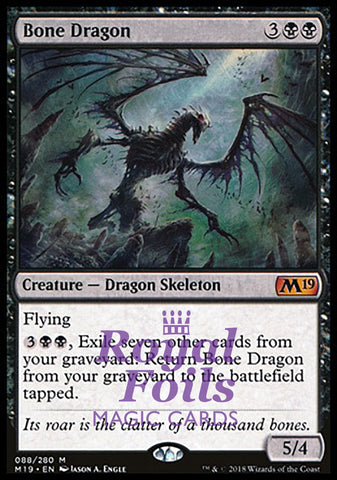 **1x FOIL Bone Dragon** M19 MTG Core Set 2019 Mythic MINT black