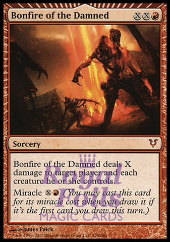 **1x FOIL Bonfire of the Damned** AVR MTG Avacyn Restored Mythic MINT red