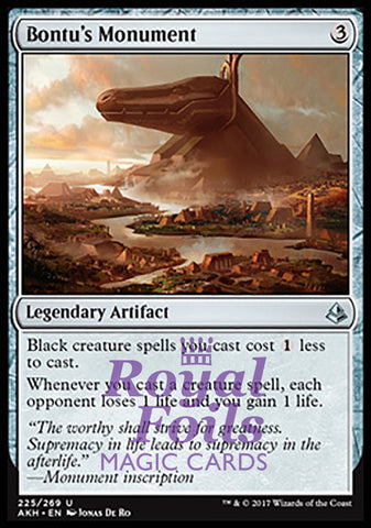 **1x FOIL Bontu's Monument** AKH MTG Amonkhet Uncommon MINT artifact