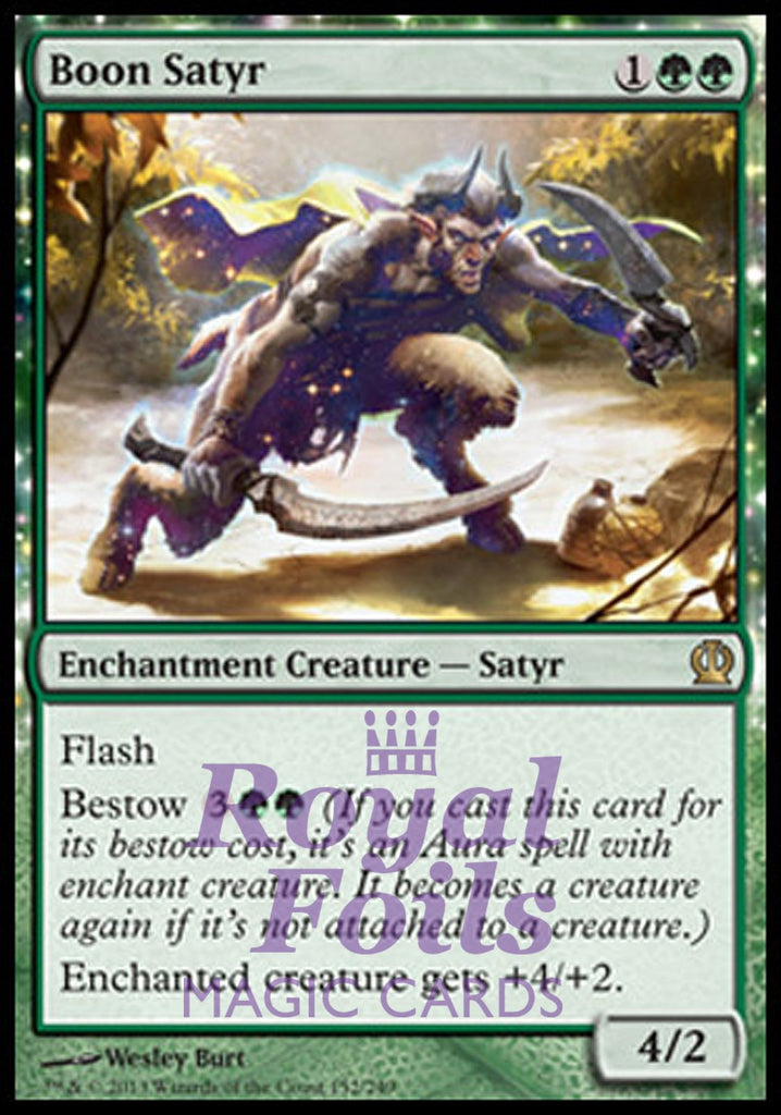**1x FOIL Boon Satyr** THS MTG Theros Rare MINT green