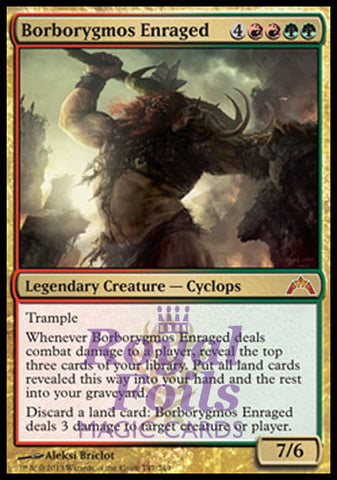 **1x FOIL Borborygmos Enraged** GTC MTG Gatecrash Mythic VF red green