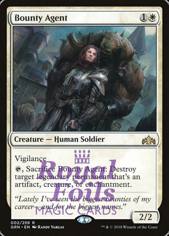 **1x FOIL Bounty Agent** GRN MTG Guilds of Ravnica Rare MINT white
