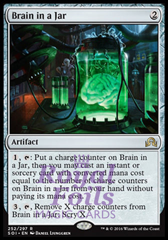 **1x FOIL Brain in a Jar** SOI MTG Shadows Over Innistrad Rare MINT artifact