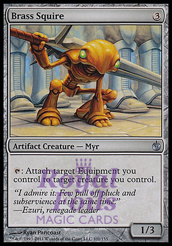**1x FOIL Brass Squire** MBS MTG Mirrodin Besieged Uncommon MINT artifact