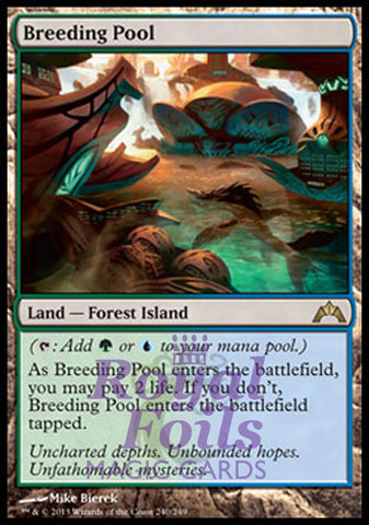 **1x FOIL Breeding Pool** GTC MTG Gatecrash Rare MINT blue green land