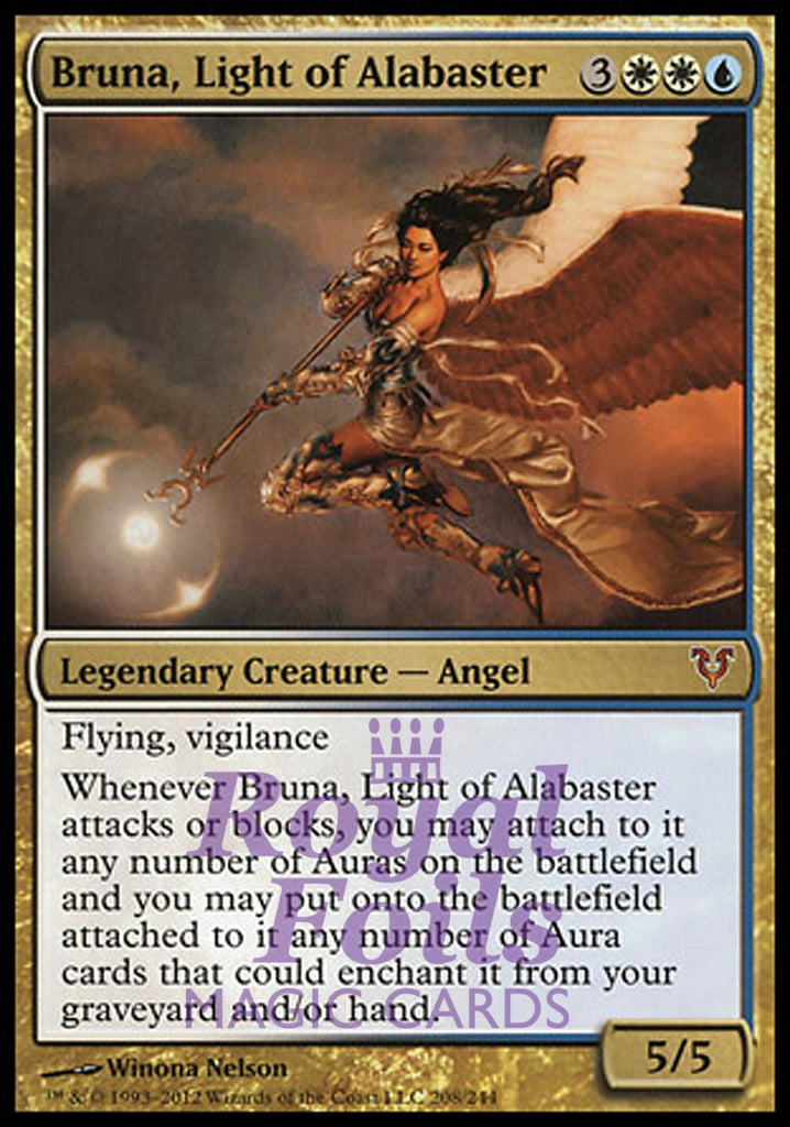 **1x FOIL Bruna, Light of Alabaster** AVR MTG Avacyn Restored Mythic MINT white blue