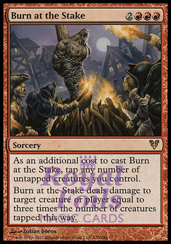 **1x FOIL Burn at the Stake** AVR MTG Avacyn Restored Rare MINT red