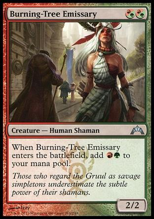 **1x FOIL Burning-Tree Emissary** GTC MTG Gatecrash Uncommon MINT red green