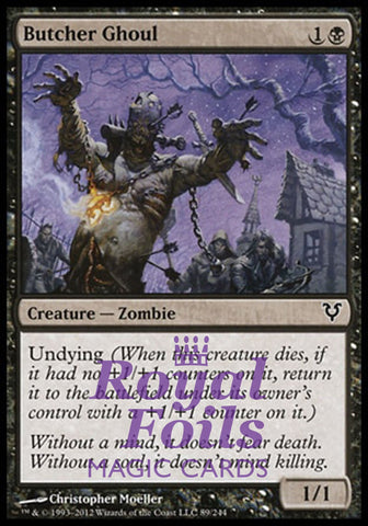 **1x FOIL Butcher Ghoul** AVR MTG Avacyn Restored Common NM black