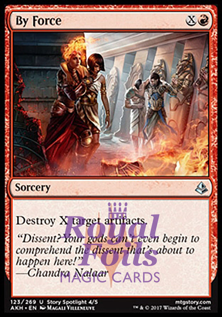 **1x FOIL By Force** AKH MTG Amonkhet Uncommon MINT red