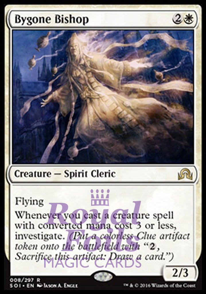 **1x FOIL Bygone Bishop** SOI MTG Shadows Over Innistrad Rare MINT white