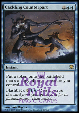 **1x FOIL Cackling Counterpart** ISD MTG Innistrad Rare MINT blue