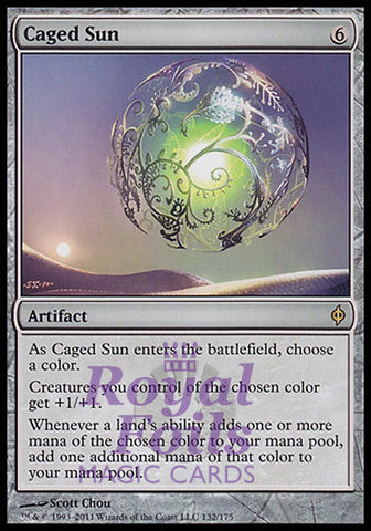 **1x FOIL Caged Sun** NPH MTG New Phyrexia Rare VF artifact
