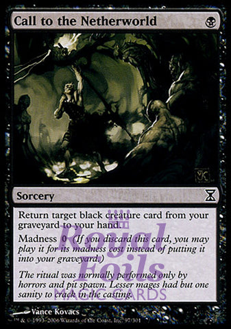 **1x FOIL Call to the Netherworld** TSP MTG Time Spiral Common MINT black