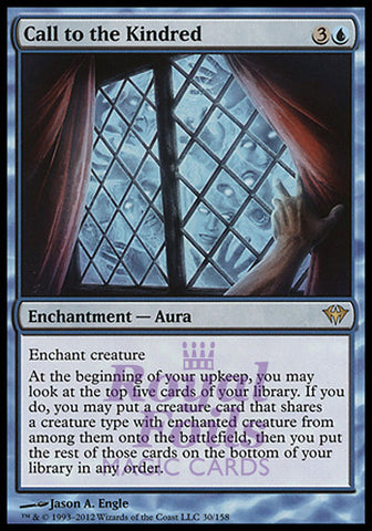 **1x FOIL Call to the Kindred** DKA MTG Dark Ascension Rare MINT blue