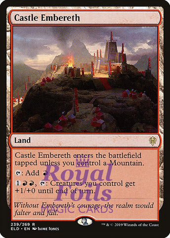 **1x FOIL Castle Embereth** ELD MTG Throne of Eldraine Rare MINT red