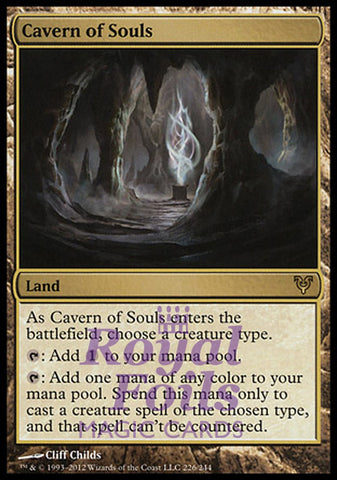 **1x FOIL Cavern of Souls** AVR MTG Avacyn Restored Rare NM+ land