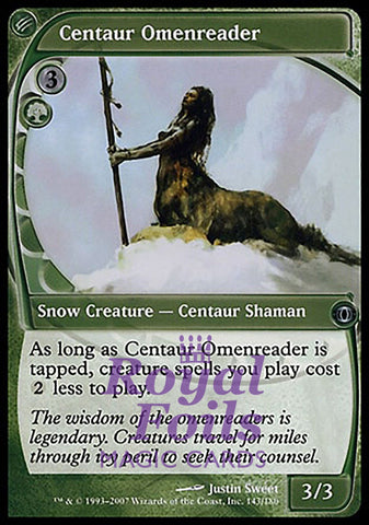 **1x FOIL Centaur Omenreader** FUT MTG Future Sight Uncommon NM+ green