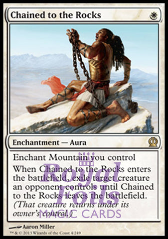 **1x FOIL Chained to the Rocks** THS MTG Theros Rare MINT white