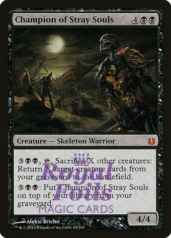 **1x FOIL Champion of Stray Souls** BNG MTG Born of the Gods Mythic MINT black