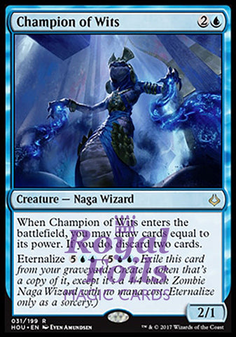 **1x FOIL Champion of Wits** HOU MTG Hour of Devastation Rare MINT blue