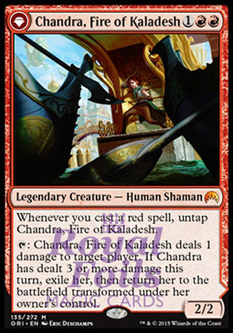 **1x FOIL Chandra Fire of Kaladesh* ORI MTG Magic Origins Mythic MINT red