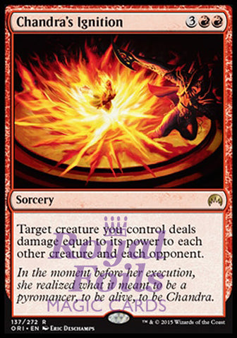 **1x FOIL Chandra's Ignition** ORI MTG Magic Origins Rare MINT red