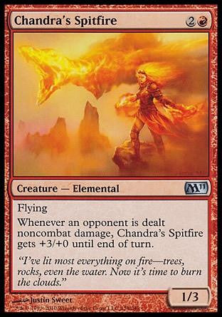 **1x FOIL Chandra's Spitfire** MTG M11 Core Set Uncommon MINT red