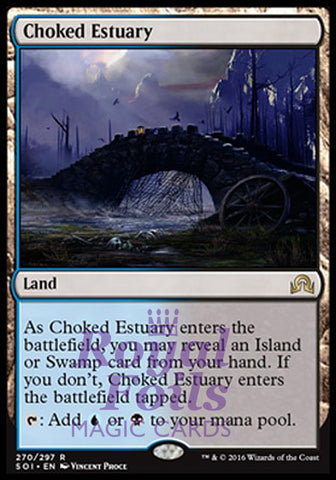 **1x FOIL Choked Estuary** SOI MTG Shadows Over Innistrad Rare MINT blue black