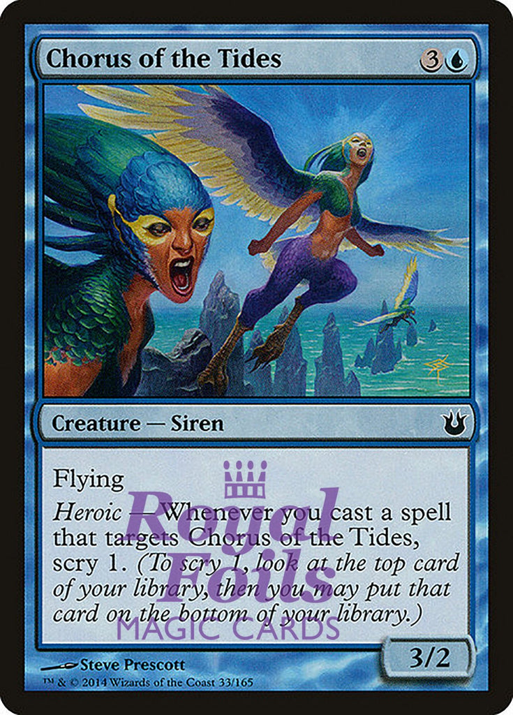 **4x FOIL Chorus of the Tides** BNG MTG Born of the Gods Common MINT blue